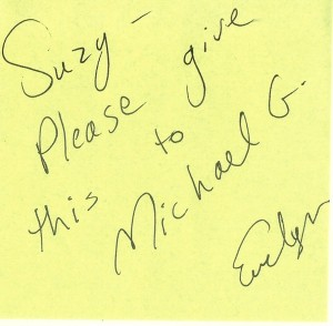 Evelyn's note